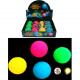 assorted ball with light 6,5cm, assorted 4 colors