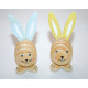 Wooden rabbit 9x4x4cm, with long wooden ears and f