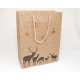 Bolsa de regalo de aspecto natural 140g, 23x18x8cm