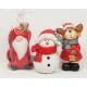 Santa, moose and snowman 7x4,5cm in cellophane