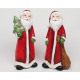 Santa XL 14x6x5cm with sack or tree and glitter,