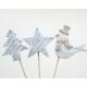 Csillag, madár vagy fa 24x8x2cm, fából készült dug