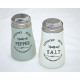 Salt and pepper shakers country glass, 9x6cm