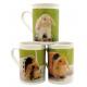 Coffee mug with bunny motif approx. 250ml, 3-fold