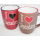 Kaffeebecher XL 360ml Chocolate-Design 2-fach sort