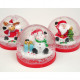 Snow Globe with Santa, Moose without Snowman 6x5cm