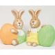 Bunny with big egg 8x6cm 2 times assorted