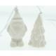 Porcelán fogas Mikulás vagy fa 8x5x4cm