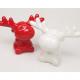 Jávorszarvas XL agancsokkal, piros / fehér, 10x6cm