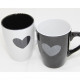 Coffee mug heart 12x11x8.5cm