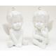 Porcelain angel white sitting 8x6x5cm 2 poses