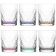 Glass tumbler set of 6! colored 345ml gift box