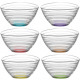 Glass Bowl Set of 6! colored 300ml gift box