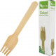 Party cutlery fork 20s wooden 15.5cm