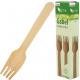 Cubiertos fiesta tenedor 20s madera 15.5cm.
