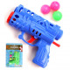 Ball gun 12cm with 3 balls, 4 colors assorted