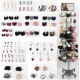 Accessories assortment 628 pieces in metal display