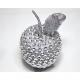 Műanyag alma ezüst 12x8x8cm
