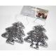 Karácsonyfa fogas flitter ezüst szett 2