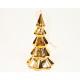 Porcelán fenyő 10x6cm arany krómozott, fényes