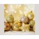 Serviettes 20pcs, 3 plis 33x33cm 'Boules dorée