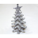 Christmas tree silver with glitter 13x7cm