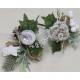 Dekorációs strucc téli rózsa vagy almával 19x13cm