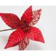 Mikulásvirág XL 46x16cm csillogó levelekkel
