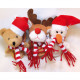 Finger puppet with XL cotton scarf 9x7x5cm