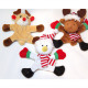Plush figures with magnet feet and arms 14x12cm