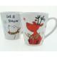 Coffee mug 'bear and moose' conical 15x8,