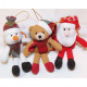 Pluszowy Święty Mikołaj, bałwan lub niedźwiedź 15x