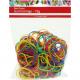 Pack gyűrűk Gumi sort körülbelül 60g 200 darab mér