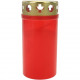 Grablicht burner Nr 3 red with gold cover 11x5,5cm