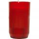 Grablicht burner without lid red 9,5x5,5cm