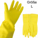 Rubber gloves large latex