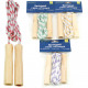 Spring rope 2m wooden handles in polybag color so