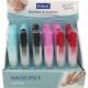 Üveg körömreszelő 14x1cm ügyben 6 színek Display