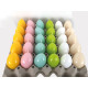 Easter egg candle 60g, 6 bright high-gloss color