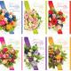 Karte Geburtstag 17x11,5cm Blumenstrauß