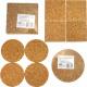 Cork Coaster 4s 10x0.5cm round and angular sorti