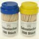 Toothpick 300er in dispenser box 7x4cm, color sort