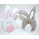 Sweet wooden rabbit XL 11,7x8x2cm 2-parts with woo