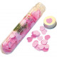 Bath confetti 20g in heart shape in a test tube