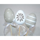 Painted easter egg on wooden plugs 40x7x5cm, set o