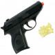 Pistol with magazine + 15 balls 12x9cm in polybag