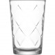 Glass of water glass 205ml large rhombuses, 10cm h