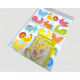 Easter hanging XL 15 pieces with two-colored draws