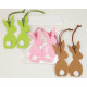 Hare Hare with XL Bommel, 2er Stet! 10x4cm