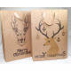 Gift bag nature 'deer' 34,5x9cm